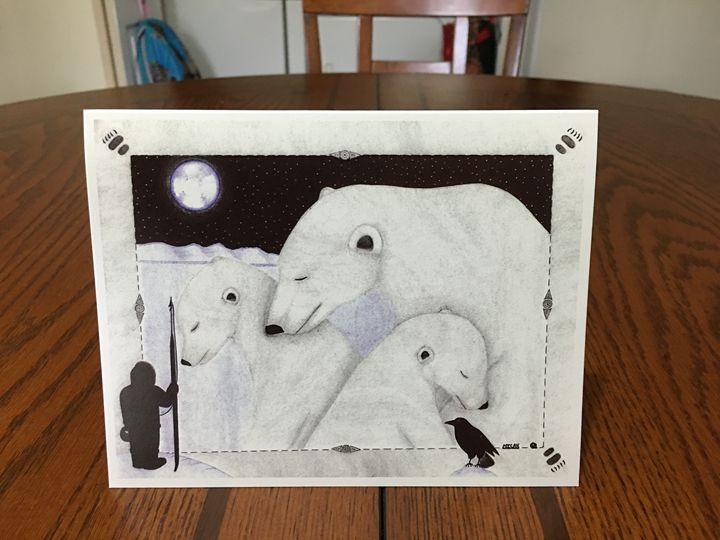 Unique inupiaq greeting card - Misak inupiaq art
