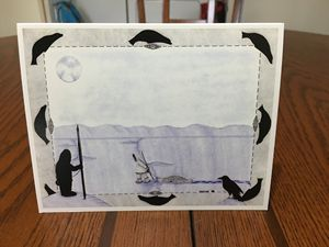 Unique inupiaq greeting card