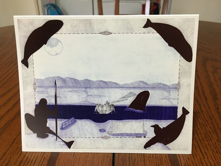 Unique inupiaq greeting card - Misak inupiaq arts