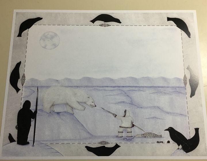 Unique inupiaq print - Misak inupiaq art
