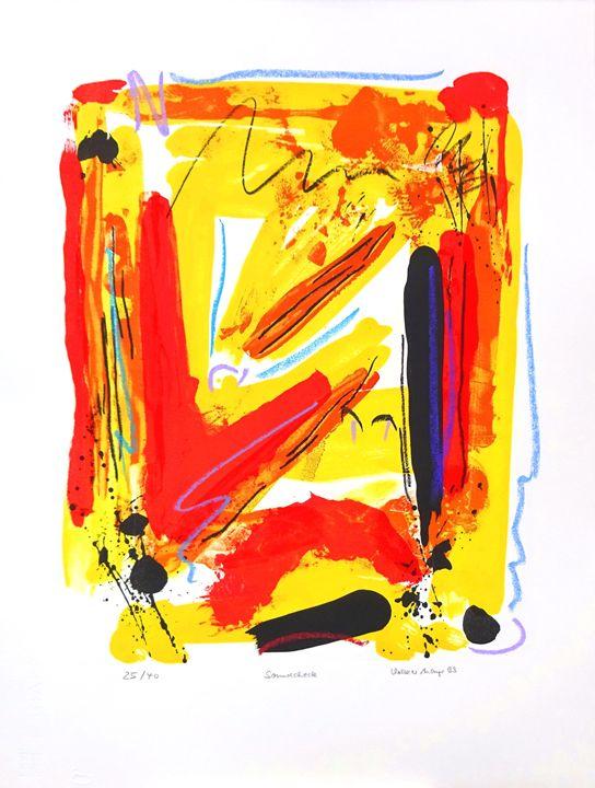 Soundcheck -color-lithograph - Volker Mayr