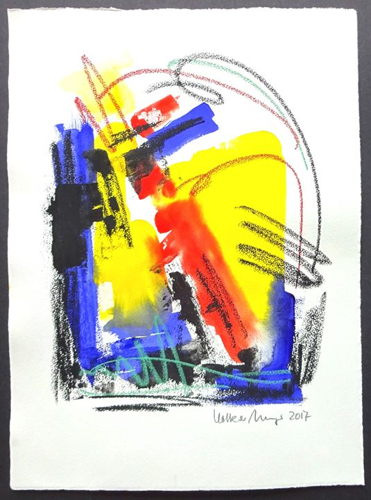 Feel The Sound Of Colours - Gouache - Volker Mayr