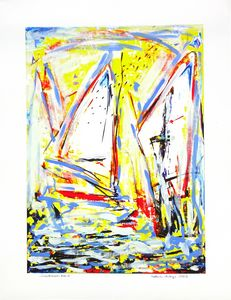 Sailboats Nr. 4 from 5 - Volker Mayr