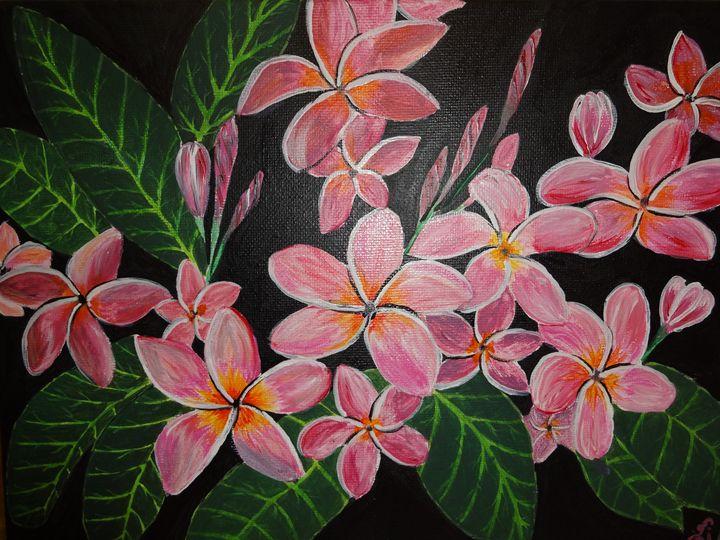 Plumeria flower art - sri arts