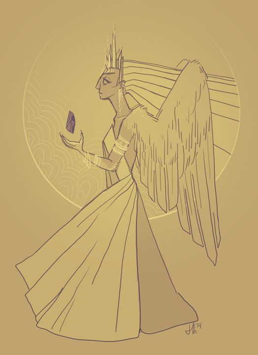 Arisen Queen - Nyctea - Izi illustrations