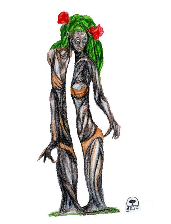 girl Rhododendron - Sajdartecreativo