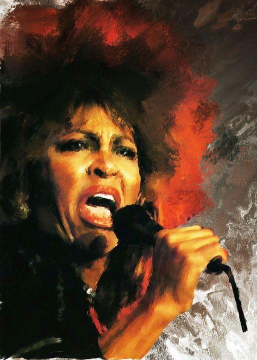 Tina Turner Painting - Brian Tones