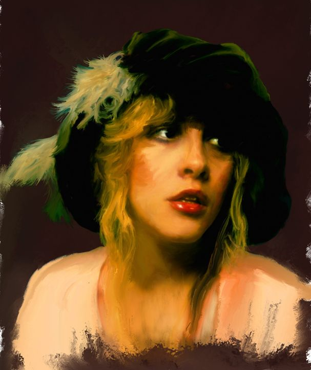 Stevie Nicks Portrait by Brian Tones - Brian Tones