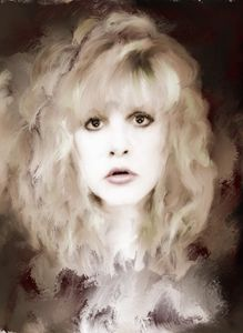 Stevie Nicks portrait by Brian Tones