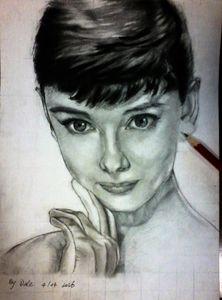 Sketch Practice of Audrey Hepburn