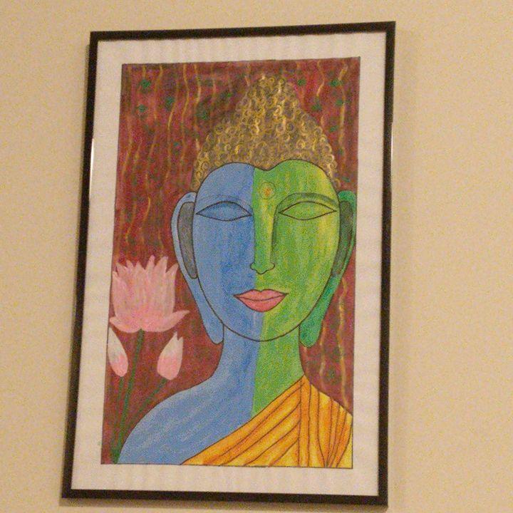 Lord Buddha in Meditation - Handmade Art Attack