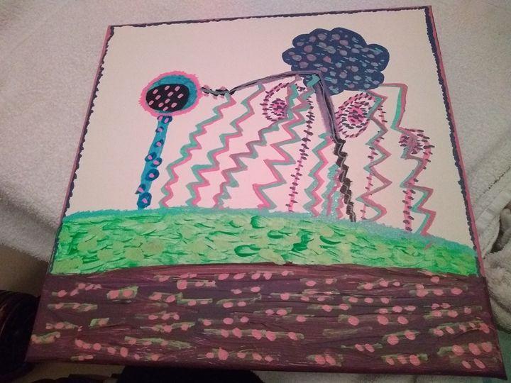 Abstract art painting -  Ekathleenc