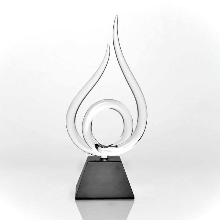 Flame of Excellence - MC Glass Art