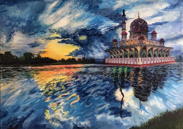 Sunset at Putrajaya Mosque 2018 - Junera Islam