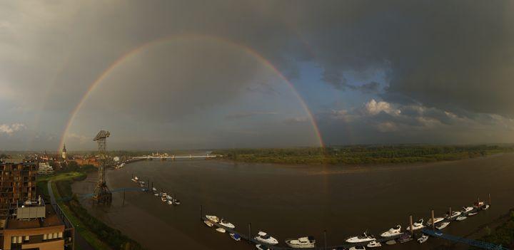 Double rainbpw over the river - eriktanghe