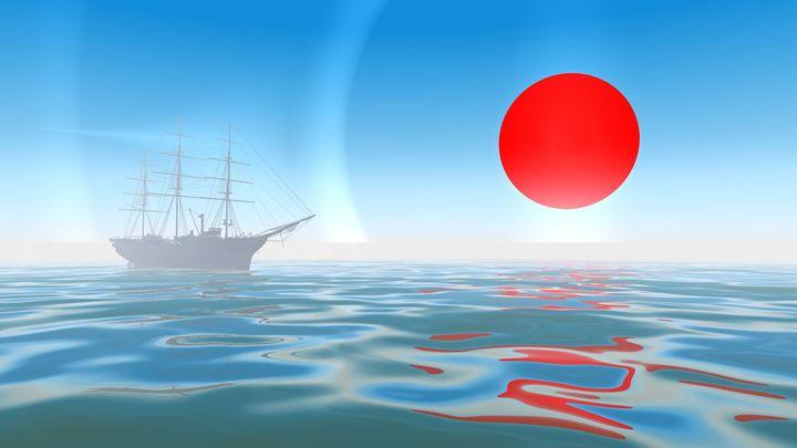 Anchorage with red sun - eriktanghe