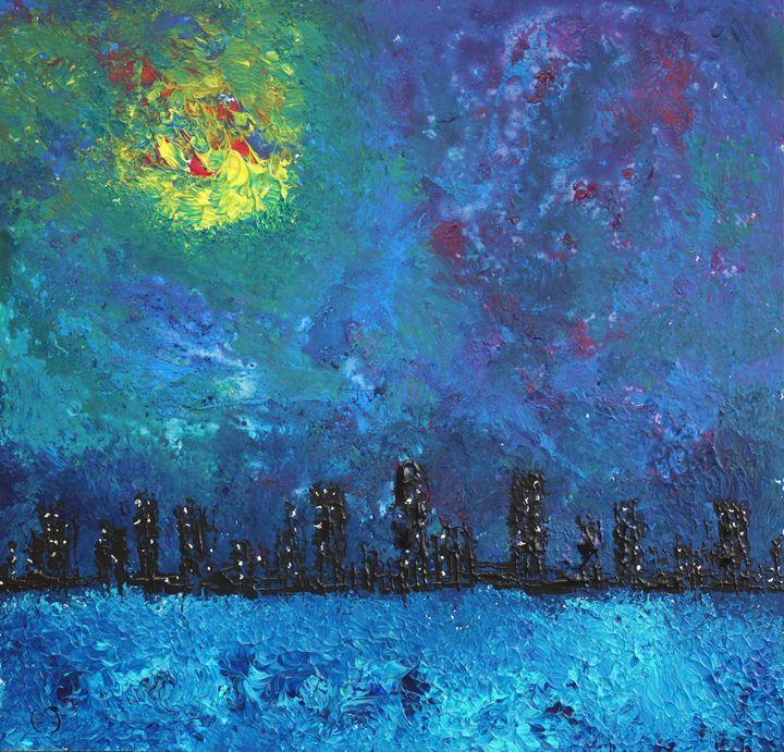 full moon over watercity - eriktanghe