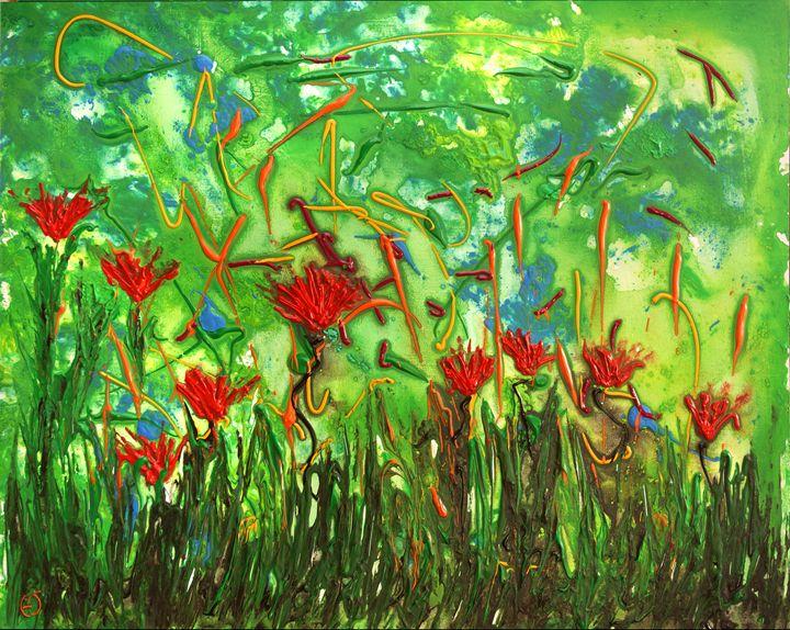 Playful red flowers - eriktanghe