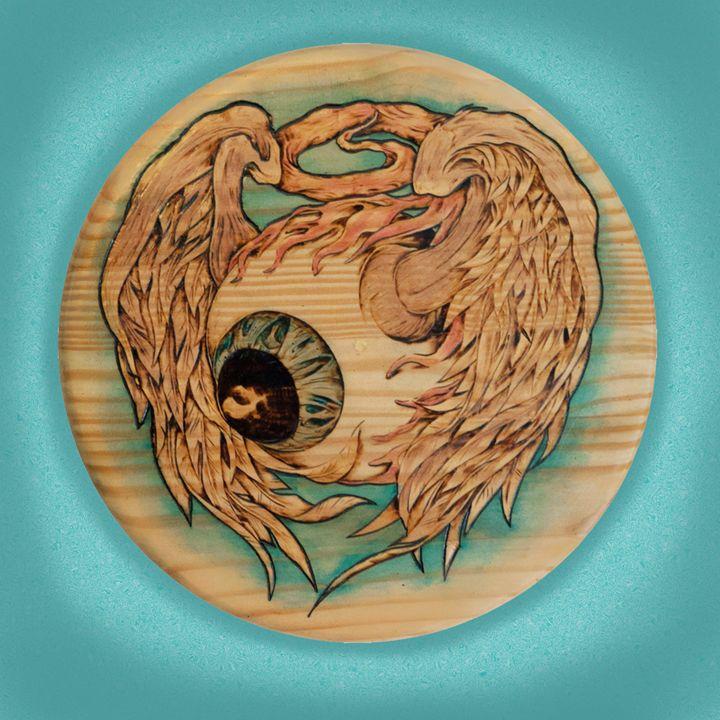 Flying Eyeball - Bachi Art