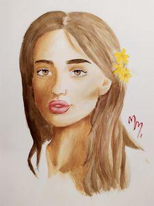 Watercolor girl