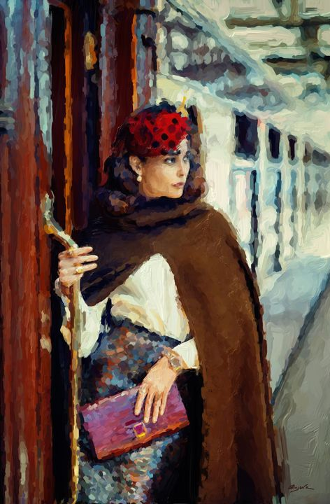 Woman on Train - Ros Ruseva