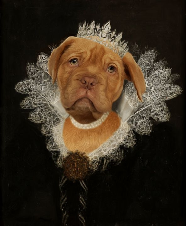 Dog Queen Portrait - Ros Ruseva