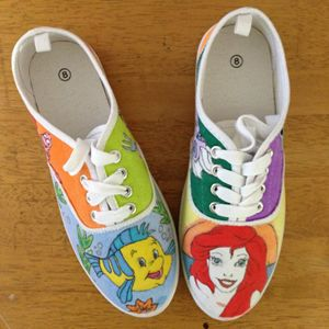 The Little Mermaid Canvas Shoes - Kaitlyn