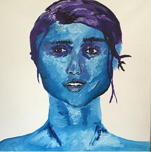 'Blue' Acrylic Painting
