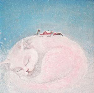 Fabulous white cat Painting