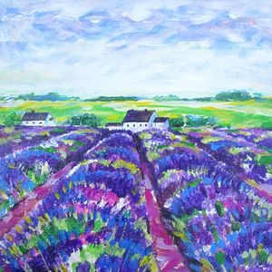 Lavender fields Provence house.