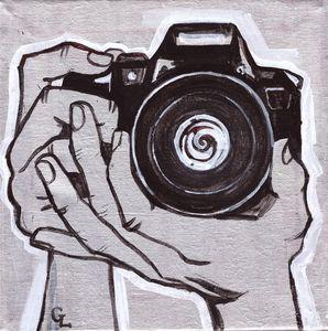 Photographer's hands Painting - GalaArt