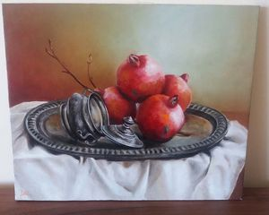 Pomegranates Oil Painting Canvas
