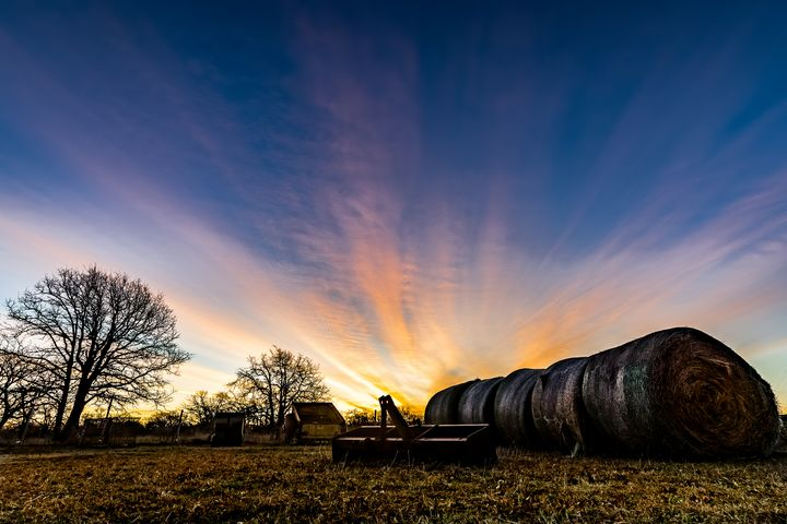 Sunrise over Hay - Tales of Texas Photography