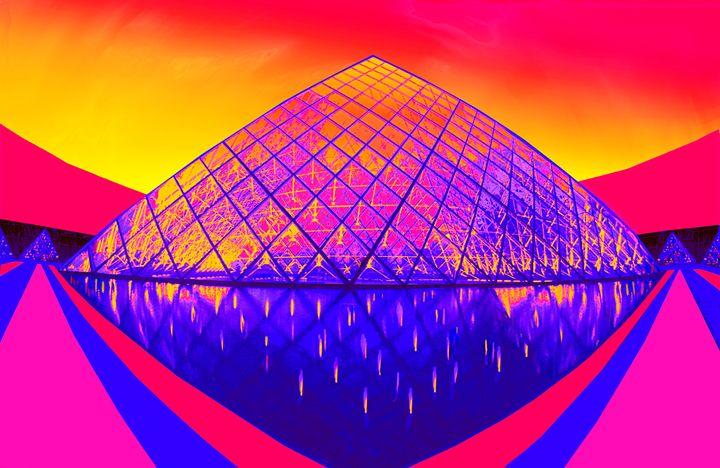 "Paris Pyramid at Dawn - Jane Gottlieb ""Dreamscapes"""