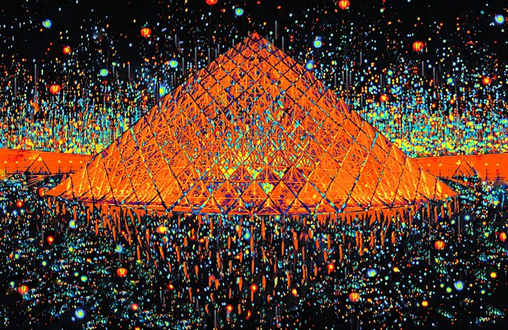 "Paris Pyramid at Midnight - Jane Gottlieb ""Dreamscapes"""