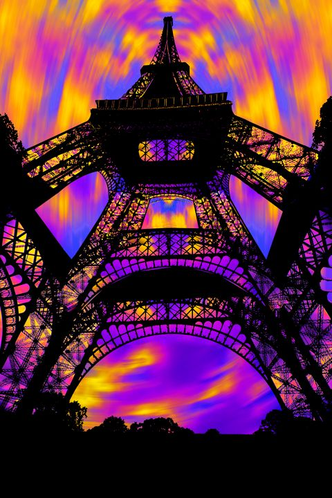 "Eiffel Tower at Dawn - Jane Gottlieb ""Dreamscapes"""