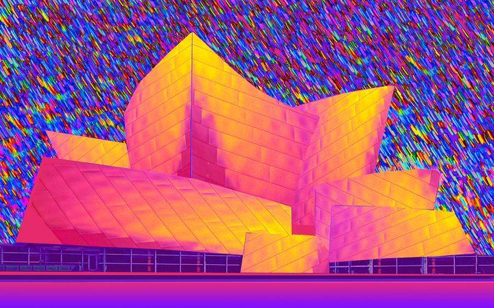 """Disney Hall in Technicolor - Jane Gottlieb """"Dreamscapes"""""""