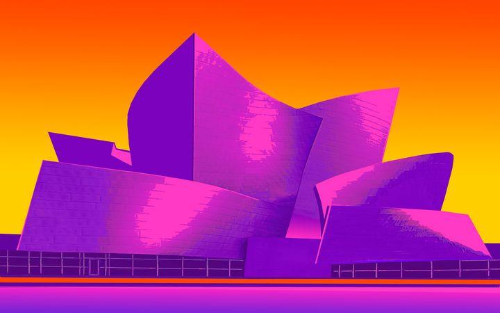"Disney Hall at Sunrise - Jane Gottlieb ""Dreamscapes"""