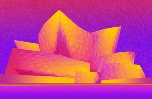 Disney Hall in Technicolor High Noon