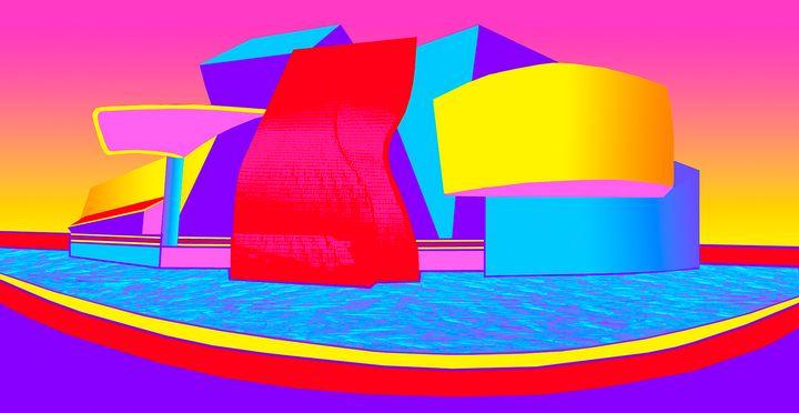 """Bilbao in Technicolor - Jane Gottlieb """"Dreamscapes"""""""