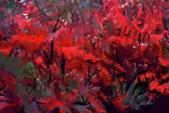 Sumac in Autumn 2 - D. Raymond-Wryhte
