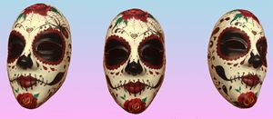 """Sugar Skull Mask """"Silencio de amor"""""""