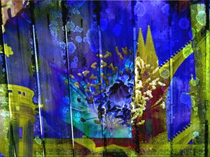 Yellow Cathedral - Marie C. Jones Digital Art