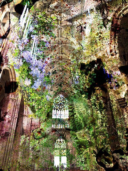Cathedral 6 - Marie C. Jones Digital Art