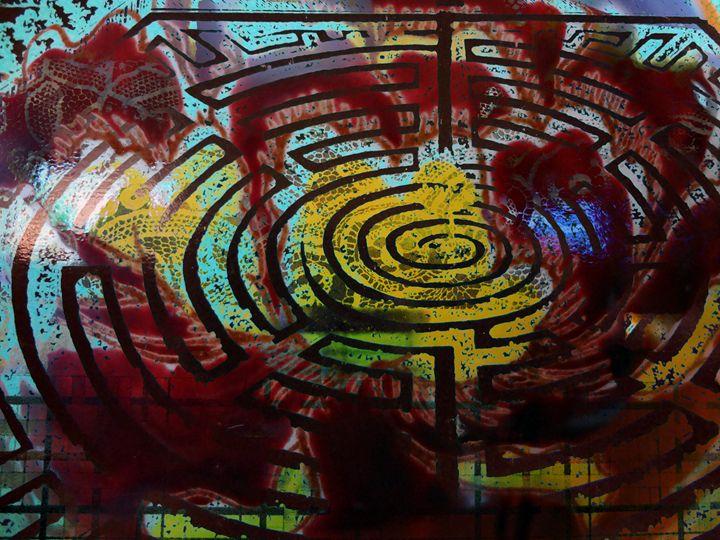 Into the Unicursal Labyrinth - Marie C. Jones Digital Art