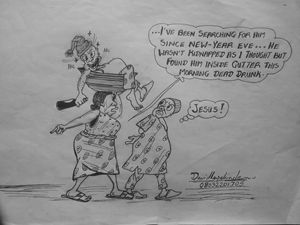 The Drunk  cartoon