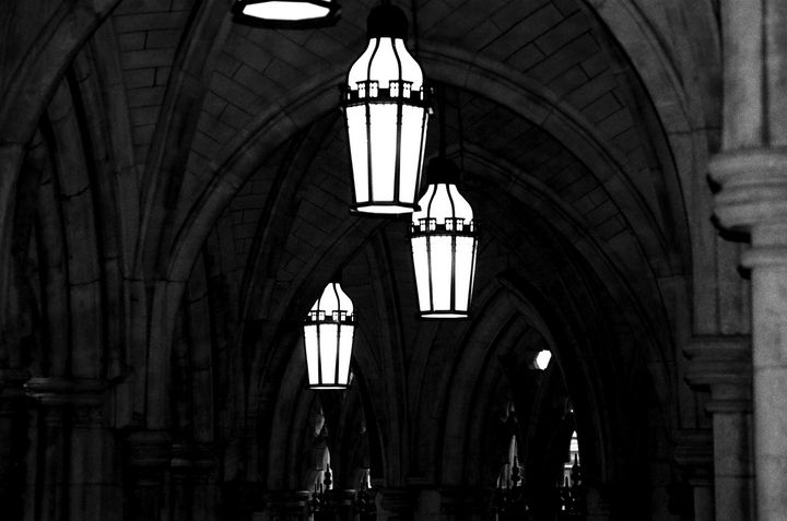 Church Lights and Arches photograph - Stonebrook Gallery