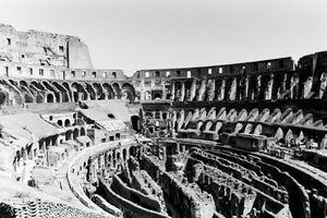 B/W Photo of Colosseum