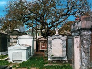 New Orleans Cemetary Color Photo