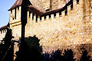 European Stone Building Color Photo